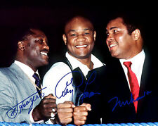 Joe Frazier George Foreman Muhammad Ali Boxing Signed Photo Autograph Reprint