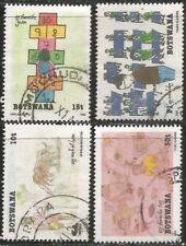 BOTSWANA 1989 CHILDREN'S DRAWINGS - ART Sc#460-3 COMPLETE VFU SET 2934