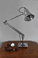 Superb restored original Herbert Terry Anglepoise desk light lamp polished braid