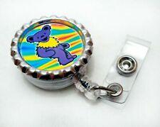 Grateful Dead Retractable Id Badge Reel Lanyard Holder Dancing Bear You Choose