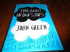 The Fault in Our Stars Signed  by John Green (2012, Hardcover, 1st/1st)