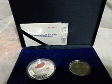 #651  Malaysia China Ping Pong World Cup Table Tennis Proof Set of 2 Silver Coin