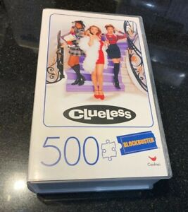 Blockbuster CLUELESS Movie 500 Piece Puzzle 🧩 In Plastic VHS Case Rare Sold Out