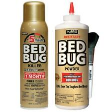 Harris 5 Minute Bed Bug Killer Foaming Spray Resistant Powder Value Pack Indoor