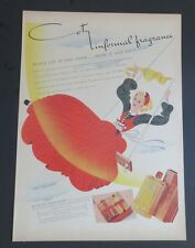 Original 1940 Print Ad COTY Informal Fragrance Eau De Toilette Art