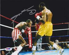 Sugar Ray Leonard Signed 8x10 Boxing Photo - Ducking vs Hearns PSA/DNA COA