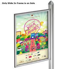 Metal Slide-in Frame in Silver 22W x 28H Inches for Freestanding Unit