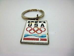Keychain: 2010 Olympics Vancouver Team USA Gold Tone Enamel marked 38USC220506 A