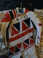 Red/White AGV 1 piece racing suit size 46 Eur