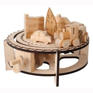 Timberkits Chuffy Train Kit Wooden Moving Model Self Assembly Construction Gift