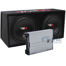 """3000W Cerwin Vega Amplified XED Dual 12"""" Loaded Subwoofer Bass Box Package"""