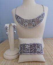 "Brighton ""American Beauty"" Necklace Bracelet & Earrings - 3 piece set- NWT"