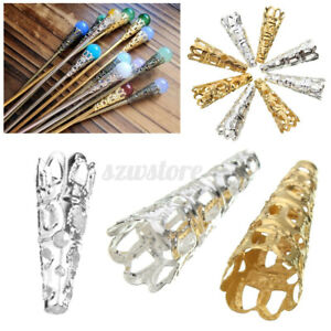 50Pcs Filigree Bead Caps Cones Nail Spacers For Jewellery Jewelry   oo