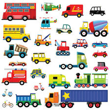 Decowall DW-1205 27 Transports Nursery Wall Stickers For Boys Children Decals