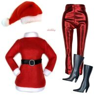 Holiday Red Sweater SILVER Leggings Fashion Pack Clothes Lot Fits Barbie Doll