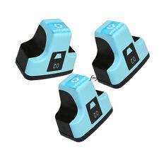 3 x LIGHT CYAN for HP02 Printers Photosmart C5180 C6180 C6280 C7180 D7160 3110