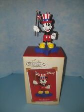 Disney's Hallmark True Patriot Mickey Mouse Keepsake Ornament 2005 New in Box