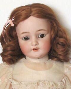 """perruque Auburn Jumeau®T29/30cm(11/12"""") poupée ancienne/moderne-Doll Wig sz11/12"""