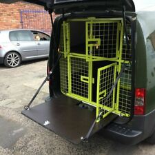 BESPOKE DOG CAGES 2 UP 2 DOWN CAGES WITH A MESH SIDE LOAD DOOR