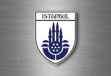 sticker adesivi adesivo stemma etichetta bandiera auto istanbul turchia