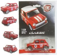Mini cooper 1:64 Car Classic  Diecast Metal  Miniature Model Toy Red Collectible