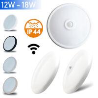 LED Decken Leuchte Zimmer Lampe IP44 Badleuchte Bewegungsmelder Sensor 12W 18W