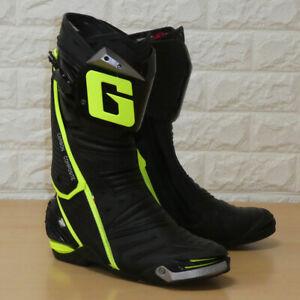 Gaerne GP1 Motorcycle Motorbike Lorica Armoured Race Boots - Black / Fluo - 42