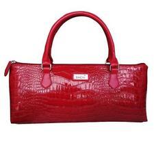 SACHI Stylish Handbag Insulated Wine Tote Purse Cooler Bag Crocodile Red!