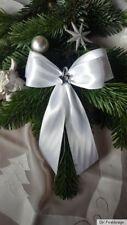 10 Weihnachtsschleifen,Christbaumschleifen weiß ,Deko Weihnachten