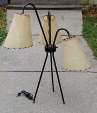 Mid-century Atomic Tripod Lamp With Fiberglass Shades Majestic 1950's Eames Era