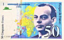 BILLET 50 FRANCS SAINT EXUPERY 1999 petit prince bon état monnaie française