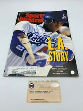 Darryl Strawberry Signed 1991 Sports Illustrated Autographed STEINER COA Dodgers