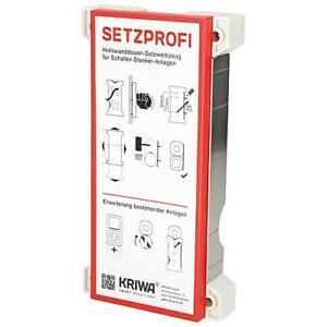 SetzProfi  Bohrwerkzeug für Hohlwanddosen Horizontal/Vertikallibelle Rigips Holz