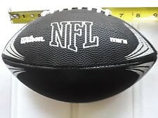"""Wilson 8 3/4"""" size Nfl licensed mini black & silver inflatable football new"""
