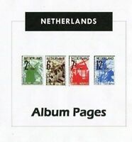Netherlands CD-Rom Stamp Album 1852-2016 Color Illustrated Album Pages