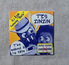 "CD AUDIO/ DJ XAM FEAT. ""BORIS""- T'ES ZINZIN CD SINGLE 3TK  1999 CARDBOARD SLEEVE"