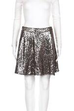 XHILARATION Sequin Embellished Skirt Size Medium Gold Shiny Elastic Waist Skater