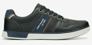 Tom Tailor Herren Sneaker Schwarz Gr.45  115410100 Halbschuh Sportschuh (22248)