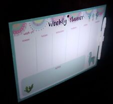 "WEEKLY ""PLANNER"".- FULLY MAGNETIC-WRITE & WIPE SURFACE with PEN & CliP. ITEM 62A"