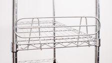"""14"""" Wire Shelf Side Ledge, Fits on 14"""" Deep Shelf, Chrome Color, 2-PACK"""