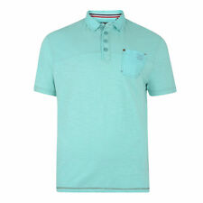 Para hombres Kam K 536 Mezcla Moda Polo Camiseta Tamaño Ligero AQUA, M