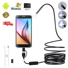 HD 6LED Endoscope Borescope Inspection Snake Camera for iPhone Android Mac US