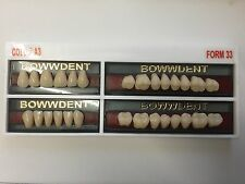 Denture Dental Lab Artificial Acrylic Tooth 1 set 28 pieces teeth UK
