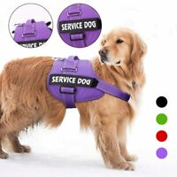 Big Service Dog Harness Reflective No Pull Vest W/ Patches IN TRAINING EMOTIONAL