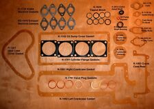 Henderson Deluxe Motorcycle - Motor Gasket Set - 43 Piece - Antique Reproduction