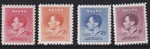 NAURU 1937 GVI Coronation Set SG44/47 MNH