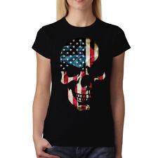 American Skull Women T-Shirt S-3XL New