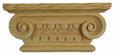 Hand Carved Wooden Greek Ionic Pilaster Capital, Decorative Wood Moulding, PN769