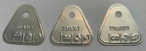 1959-60  ROCHESTER TRI POWER CARB TAG SET CHEVY 348 3PC 7013015 7013020 7013017&