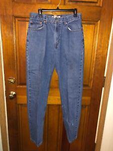 Men's Levi's 550 Relax Fit Denim Blue Jeans Size 34 x 36